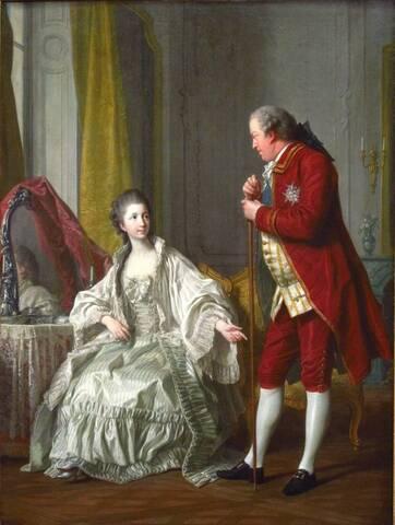 Abel François Poisson marquis de Marigny et son épouse, marquise de Marigny,  née Filleul