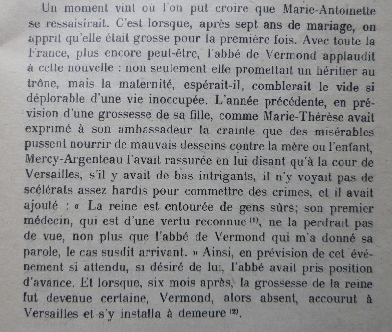La première grossesse de Marie-Antoinette, selon les Mémoires Secrets ... - Page 3 Vermon10