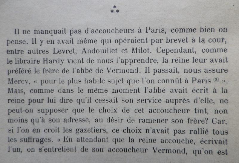 La première grossesse de Marie-Antoinette, selon les Mémoires Secrets ... - Page 3 Vermon11