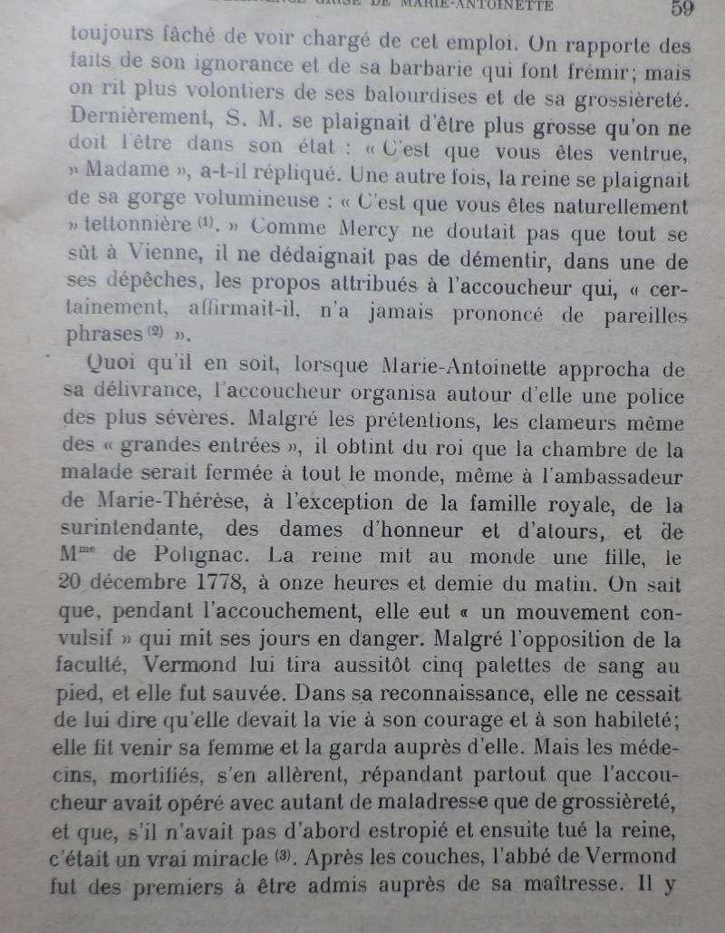 La première grossesse de Marie-Antoinette, selon les Mémoires Secrets ... - Page 3 Vermon12