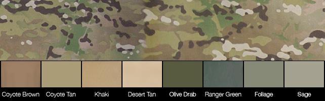Comparatif teintes MultiCam-compatibles, Quelle couleur choisir : Tan, Khaki, CB, OD ?... Multic10