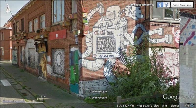 Les étranges graffitis d'un village fantôme. Doel en Belgique Boel310