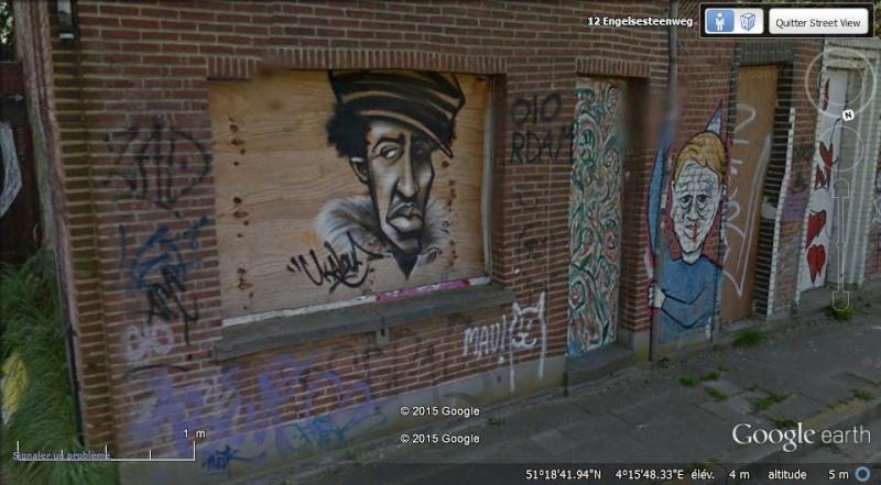 Les étranges graffitis d'un village fantôme. Doel en Belgique Boel610