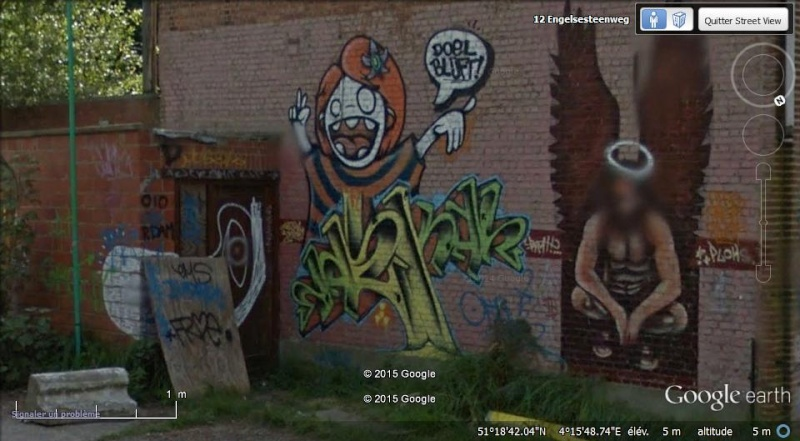 Les étranges graffitis d'un village fantôme. Doel en Belgique Boel_410