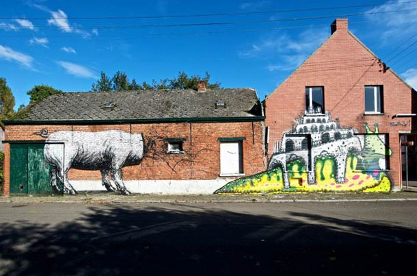 Les étranges graffitis d'un village fantôme. Doel en Belgique Doel-s10