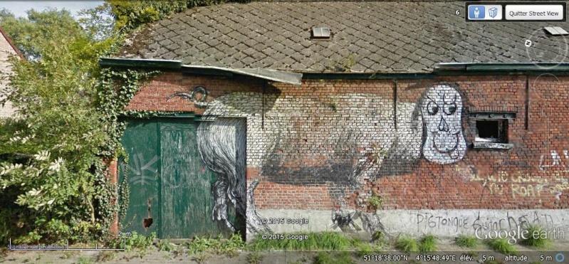 Les étranges graffitis d'un village fantôme. Doel en Belgique Zs10
