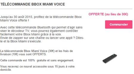 telecommande - La télécommande Bbox Miami Voice offerte jusqu'au 30 août 2015 Miamiv10