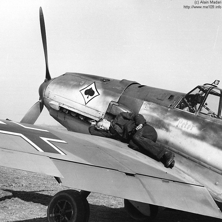 Photos insolites d'avions Bf109e10