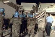 L'ONU durement frappée par le séisme à Port-au-Prince Haiti_10