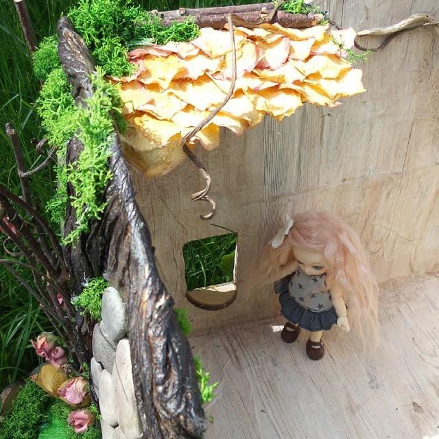 Maison de fée Puki, souche d'arbre Pullip 10995310