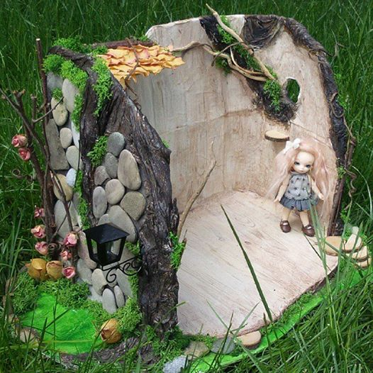 Maison de fée Puki, souche d'arbre Pullip 11350411