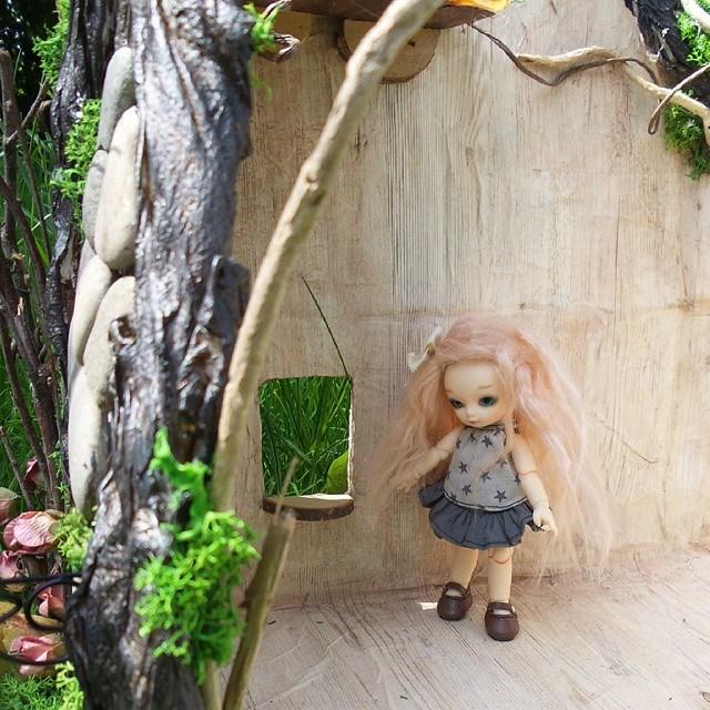 Maison de fée Puki, souche d'arbre Pullip 11350510