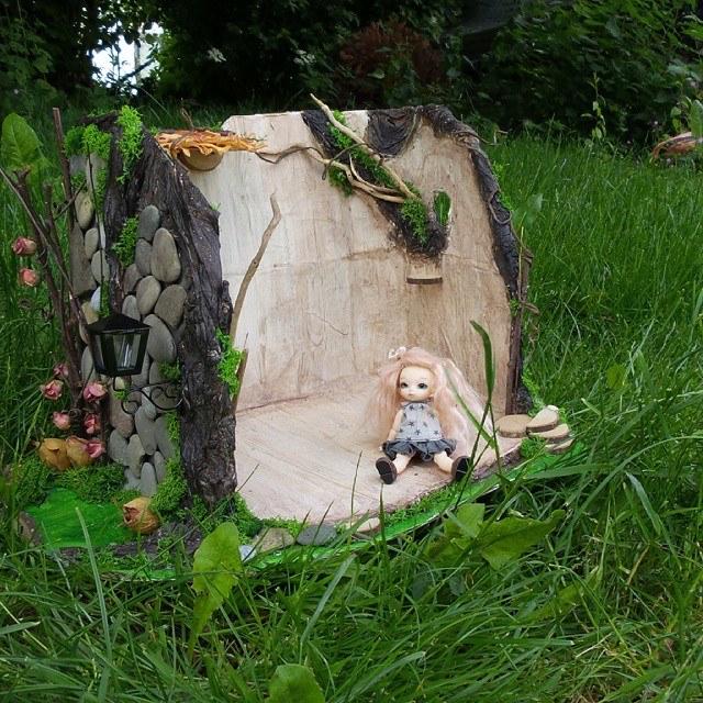 Maison de fée Puki, souche d'arbre Pullip 11351110