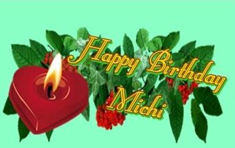 Happy birthday spike87 Michi10
