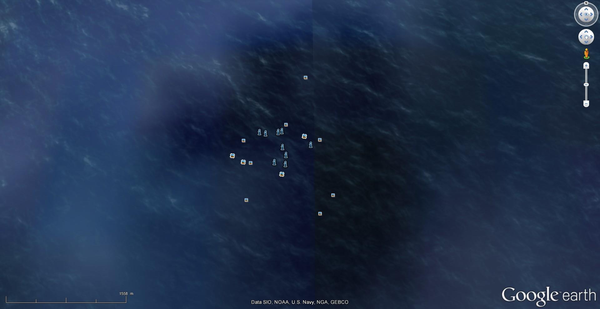 Disparition d'une île (Minamitorishima) - Océan Pacifique 2015-022