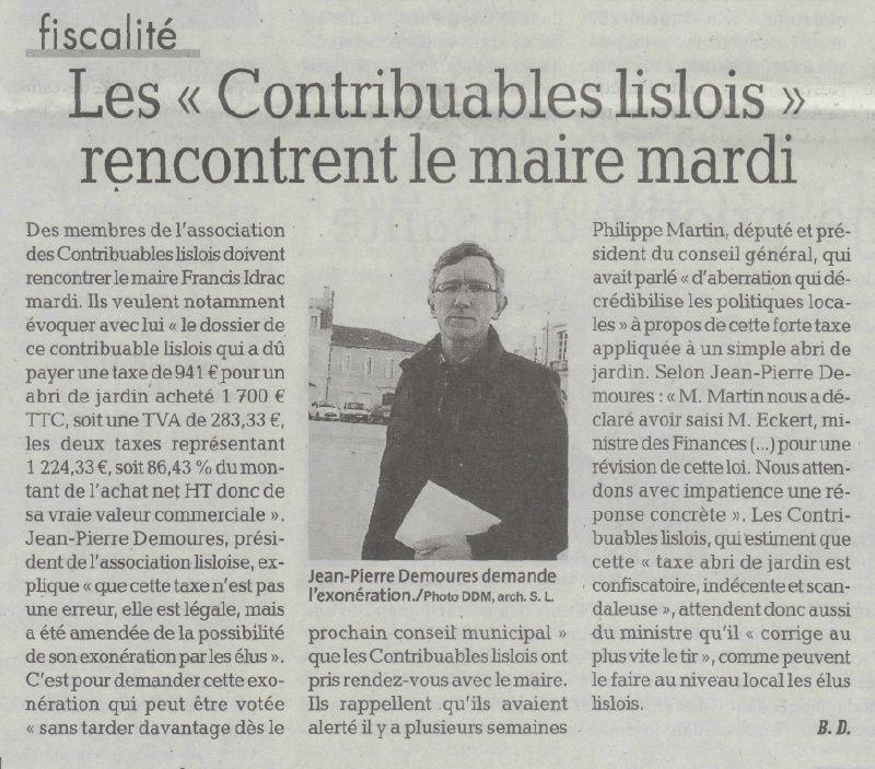 LES CONTRIBUABLES LISLOIS rencontrent le maire mardi 31 MARS Rencon10