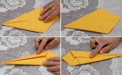 Gấp khăn ăn đẹp cho bàn tiệc Cach-g11