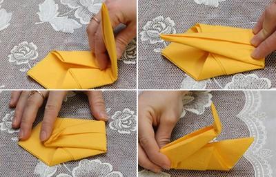 Gấp khăn ăn đẹp cho bàn tiệc Cach-g12
