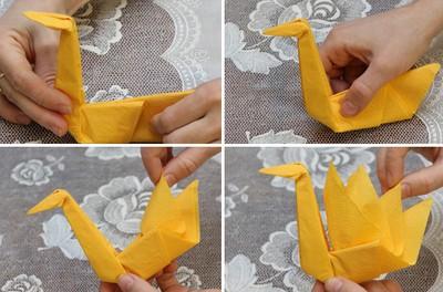 Gấp khăn ăn đẹp cho bàn tiệc Cach-g13