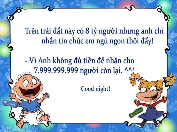Tuyển tập tin nhắn hài chúc ngủ ngon  Te-96510