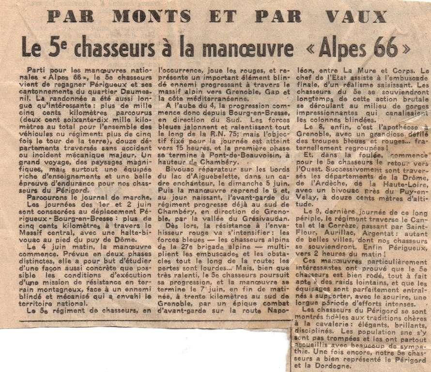 Panhard AML-60  - 5eme Régiment de Chasseurs - Alpes 1966 [Scratch 1/20] - Page 10 Articl10