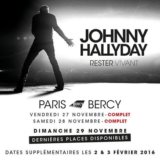 """Tournée 2015/2016 de johnny """"RESTER VIVANT """" Dates de tournée et Part 1 les festivals 10898010"""