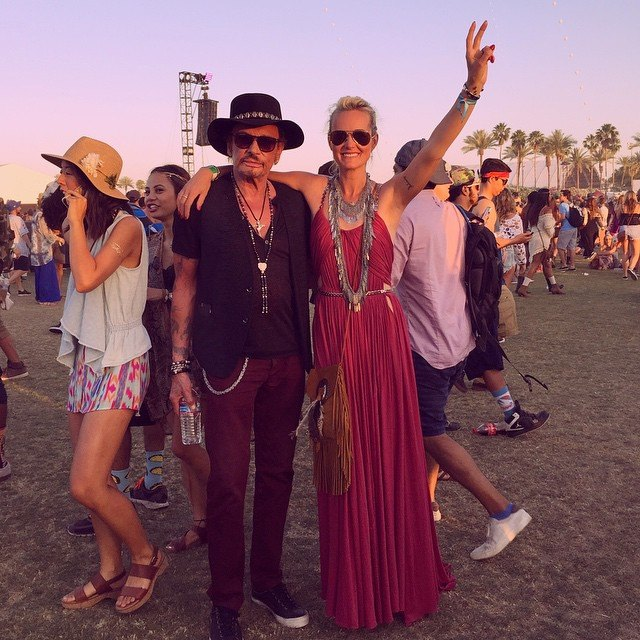 Johnny Hallyday :  weekend à Coachella 11108810