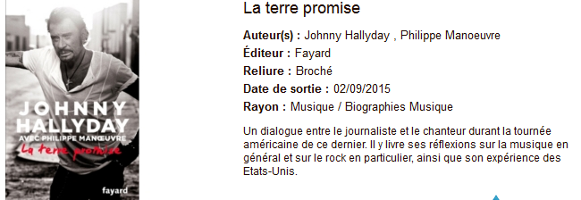 [livre] La terre promise (Johnny Hallyday, Philippe Manœuvre ) Captur18