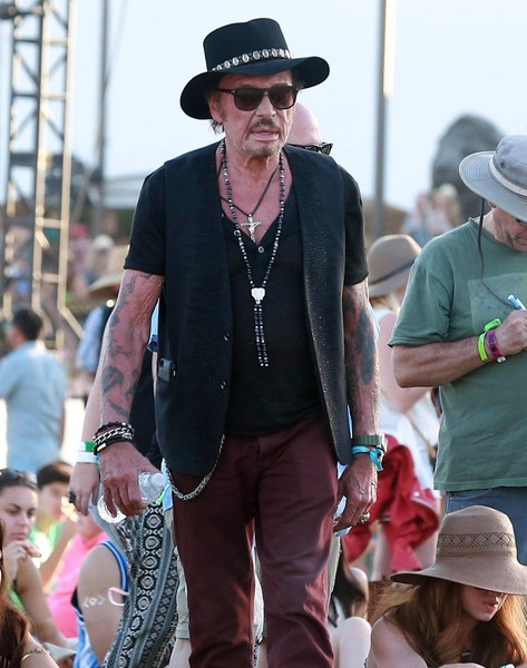 Johnny Hallyday :  weekend à Coachella Johnny18