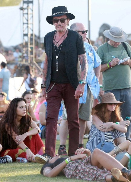 Johnny Hallyday :  weekend à Coachella Johnny19