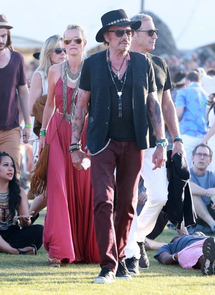 Johnny Hallyday :  weekend à Coachella Johnny21