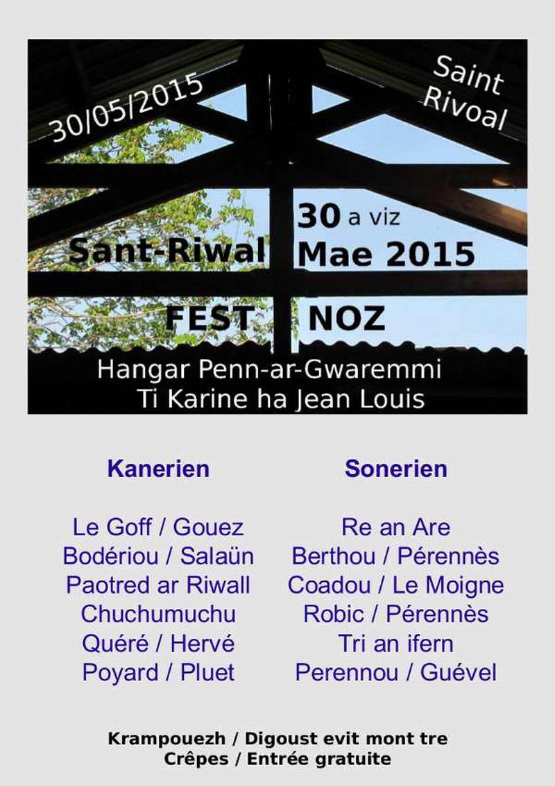 Fest Noz à Saint Rivoal le samedi 30 mai  Fest-n10