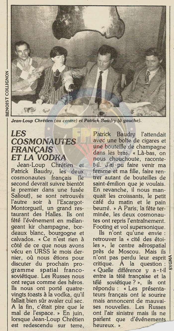 Jean-Loup Chrétien, premier spationaute Français Vodka211