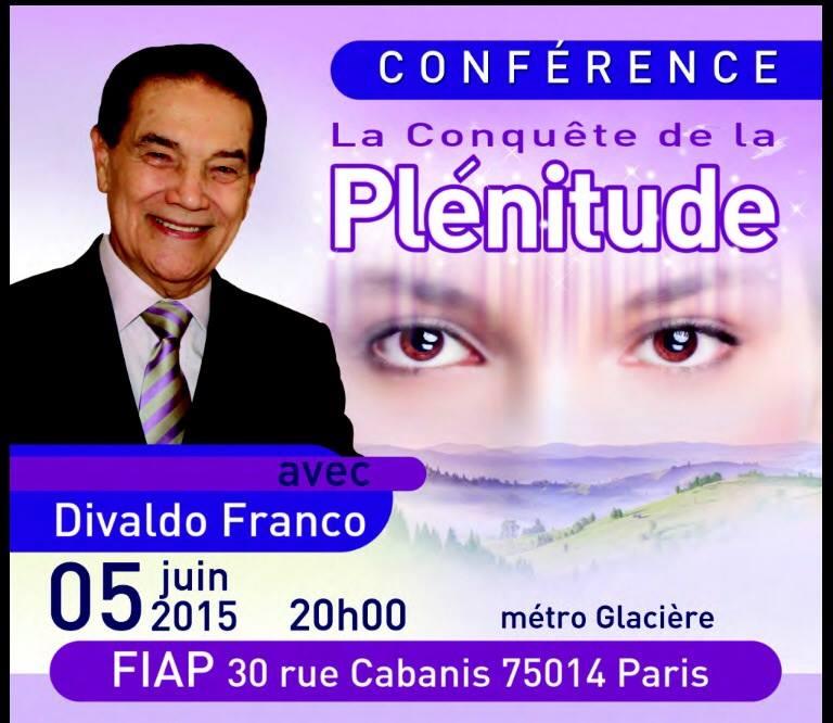 """Conférence de Divaldo Franco """"La conquête de la plénitude"""" (Paris le 05 Juin 2015) 11137110"""