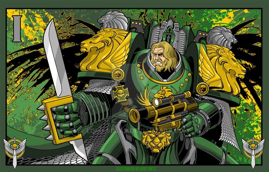 "[W40K] L'empereur et les primarques selon ""lord-solar(kurt-metz)"" 50866d10"