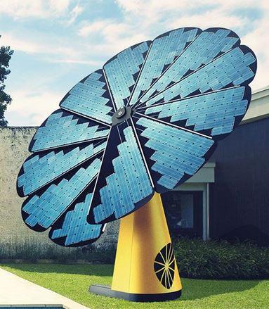 la fleur intelligente, smartflower, un panneau solaire déployable qui suit le soleil Modele10