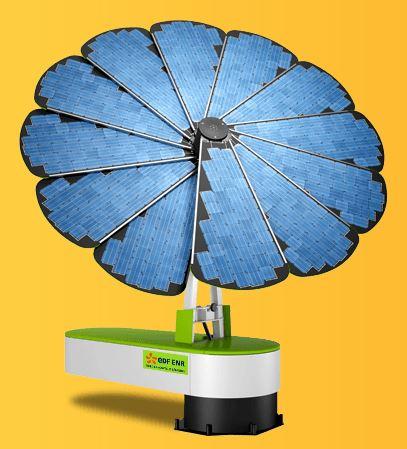 la fleur intelligente, smartflower, un panneau solaire déployable qui suit le soleil Smart10