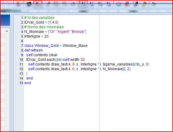 """affichez trois variables de type """"évent"""" dans le menu principal [resolu] Script10"""