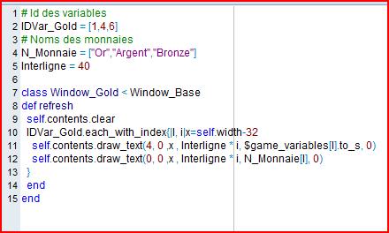"""affichez trois variables de type """"évent"""" dans le menu principal [resolu] Script13"""