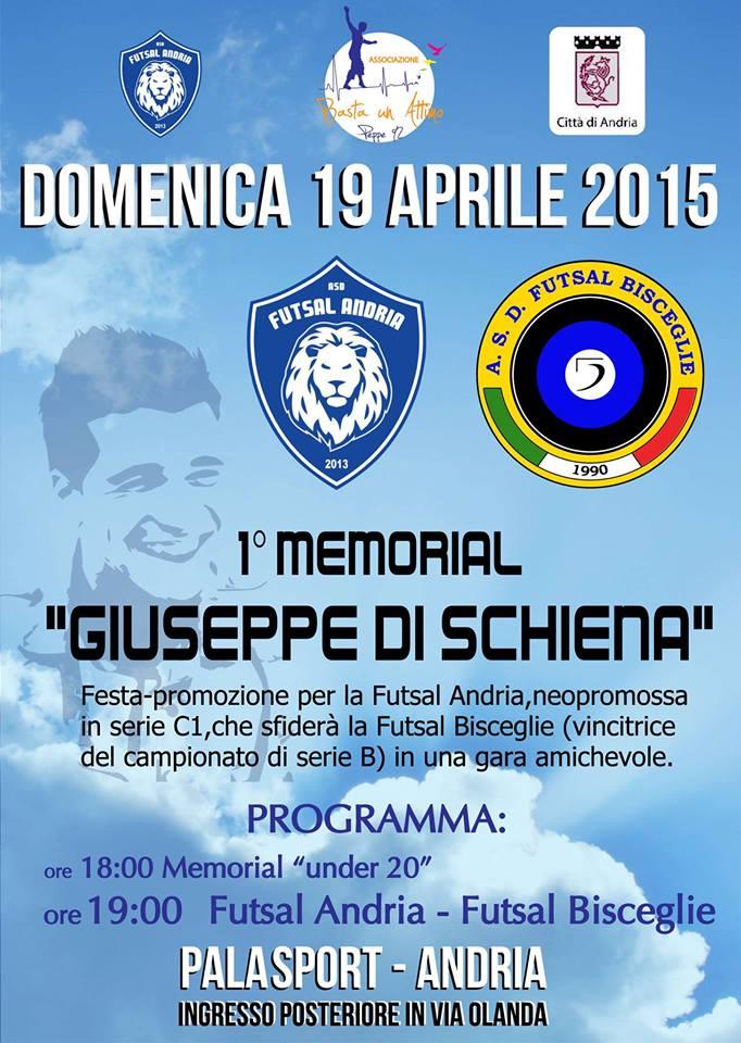 """Futsal Andria: Domenica 19 Aprile, festa promozione e 1° memorial """"Giuseppe Di Schiena"""" Primo-10"""