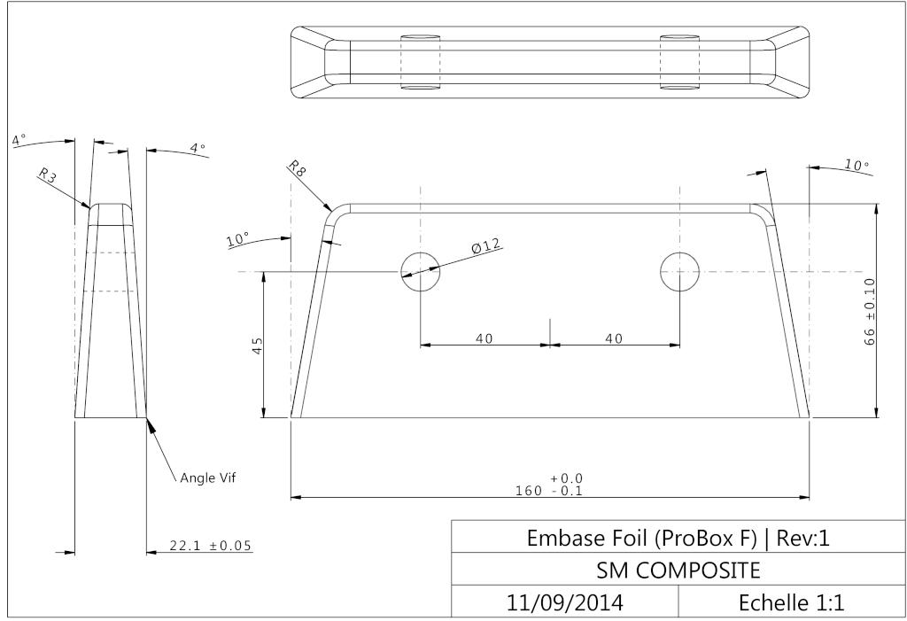 Plaque ou boitier intégré Embase11
