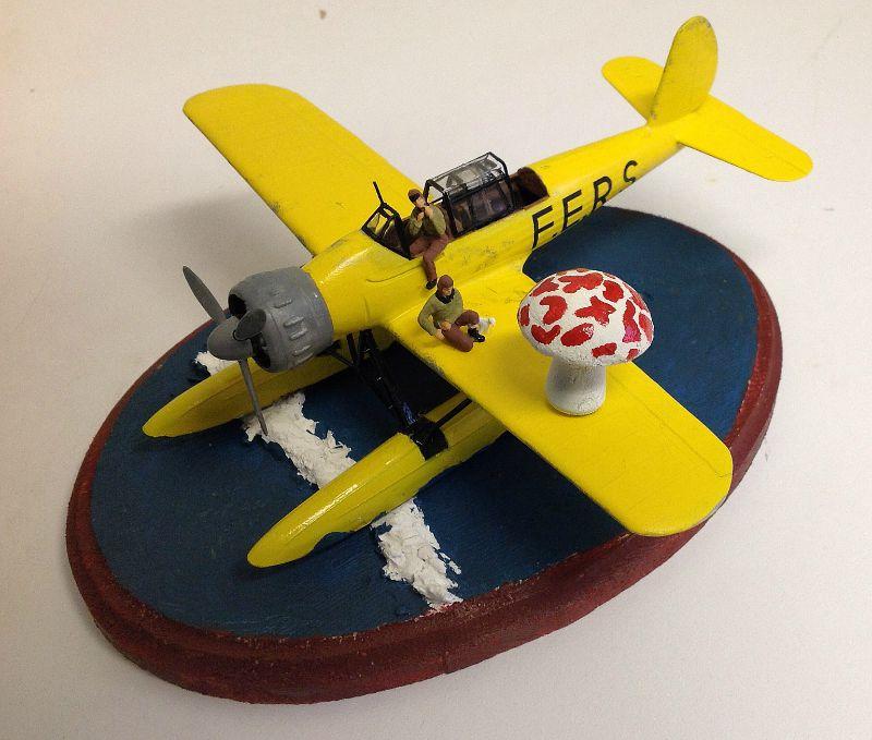 "TERMINE / Arado 196 A-3 version ""Tintin"" - 1/32 - Kit Revell 04688 Champ10"