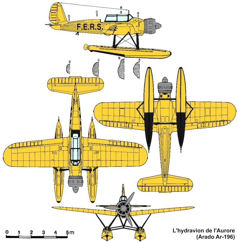 "TERMINE / Arado 196 A-3 version ""Tintin"" - 1/32 - Kit Revell 04688 Hydrav10"