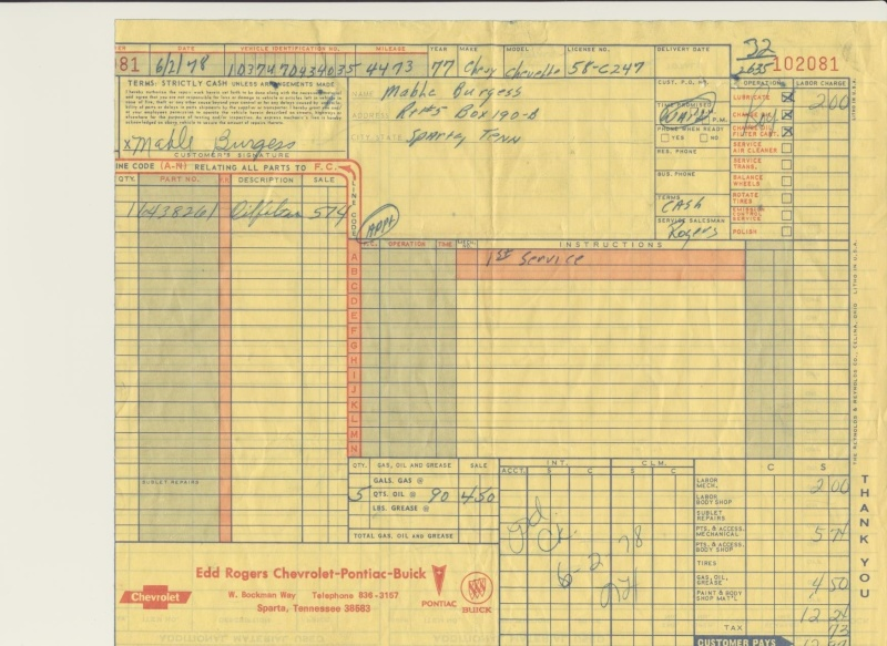 1977 Orig Documents And Build Sheet--pics 77oilc10