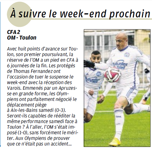 FABRICE APRUZESSE, LE ROONEY MARSEILLAIS  - Page 5 2a12