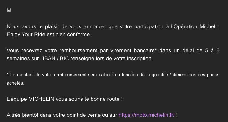 Michelin vous rembourse 40€ sur un train Captur66
