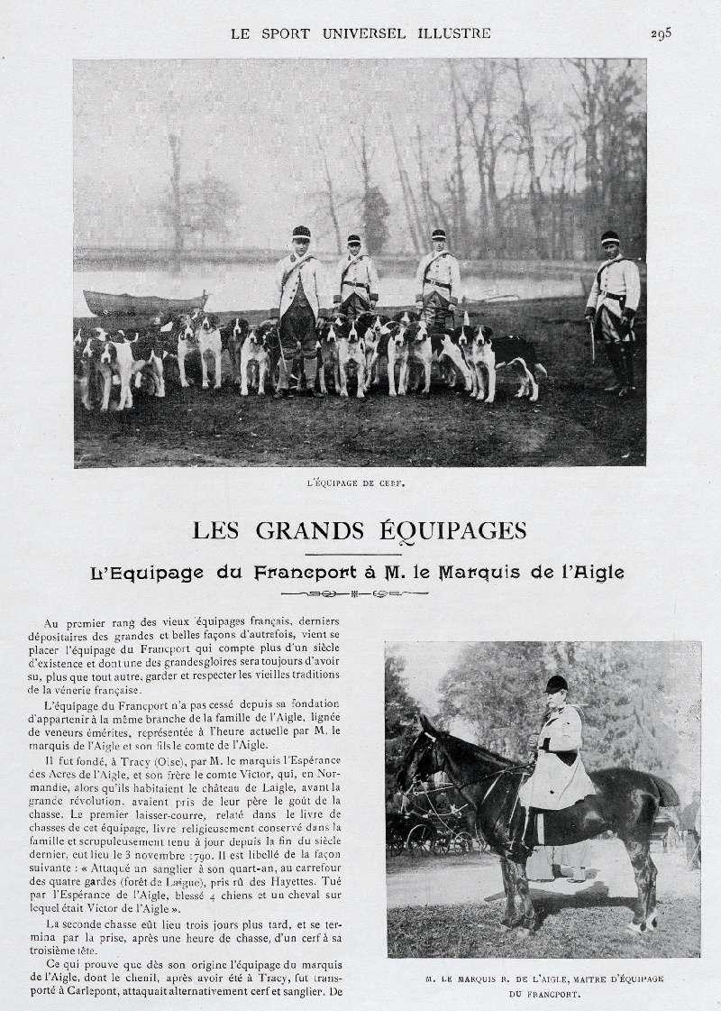 Comte de l'Aigle, membre du premier comité du Retriever Club... Francp14