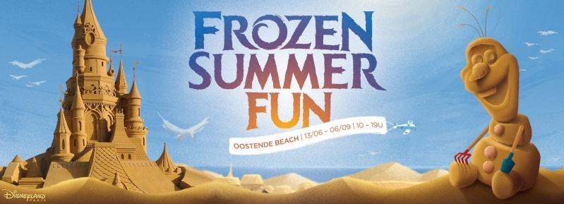 """Frozen Summer Fun""  Le nouveau Festival de Sculptures de sable  du 13 juin au 6 septembre 2015 ... 11057410"