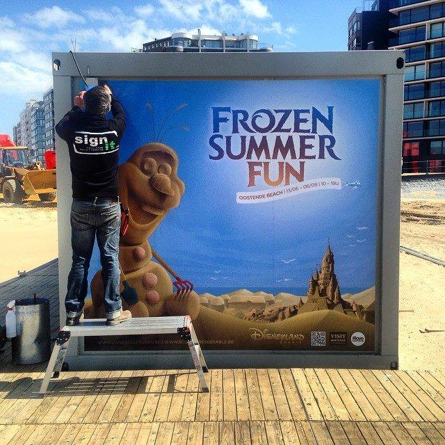 """Frozen Summer Fun""  Le nouveau Festival de Sculptures de sable  du 13 juin au 6 septembre 2015 ... 15460310"