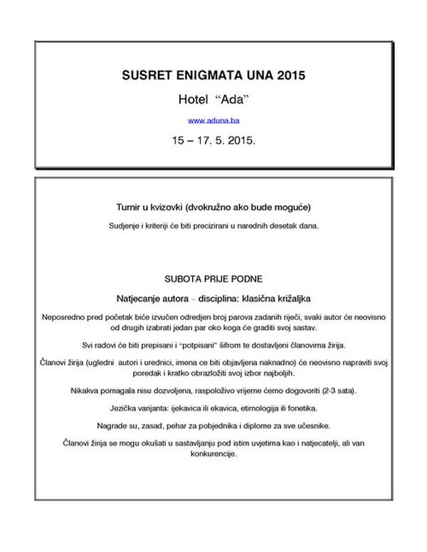 SUSRET ENIGMATA - UNA 2015. Una20110